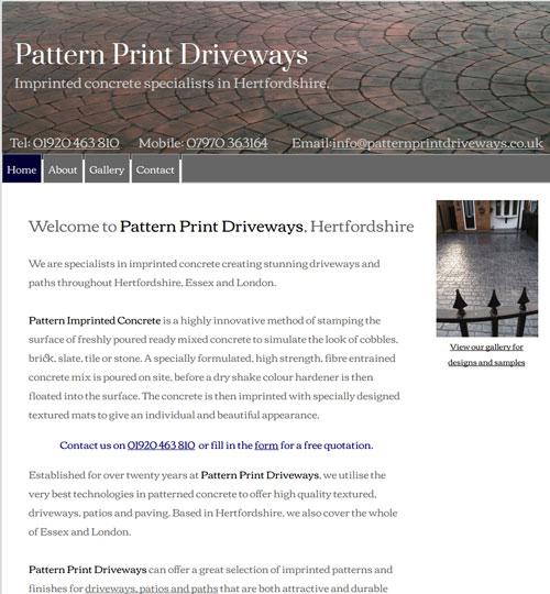 Pattern Print Driveways - Hertfordshire