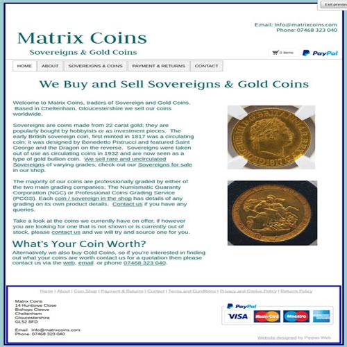 Matrix Coins