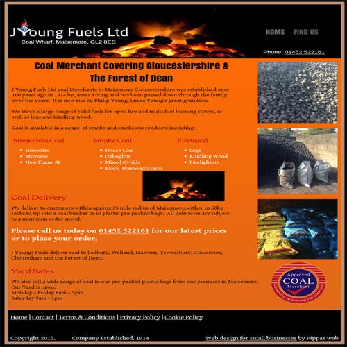J Young Fuels Ltd - Coal Merchant website