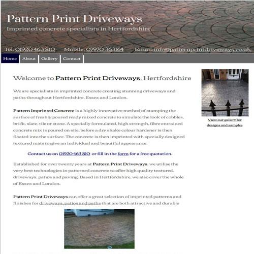 Pattern Print Pavement