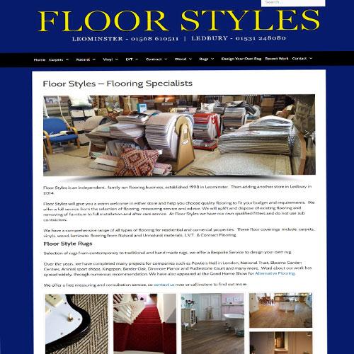 Floorstyles Carpets - Ledbury - Designed by Pippas Web