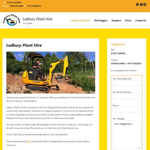 Ledbury Plant Hire - Ledbury- Designed by Pippas Web