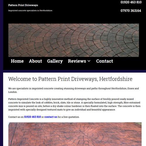 Pattern Print Driveways Hertfordshire