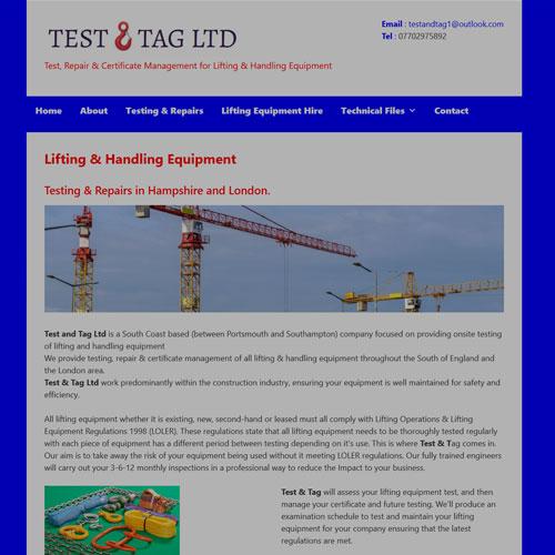 Test & Tag - Fareham Designed by Pippas Web