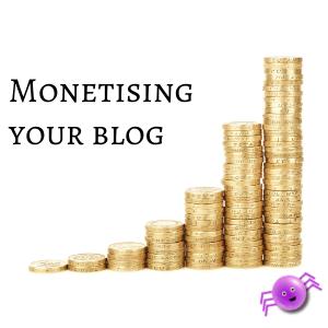 Monetising your blog - reason to blog - Pippas Web