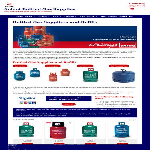 Solent Bottled Gas Supplies designed by Pippas Web