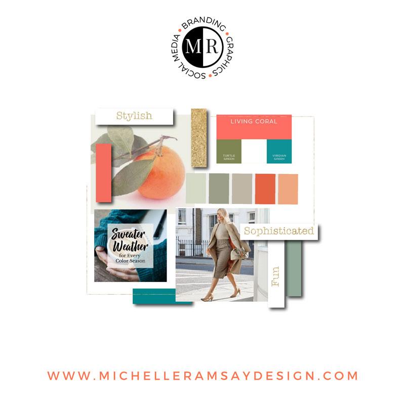 Company Mood Board by Michelle Ramsay Design