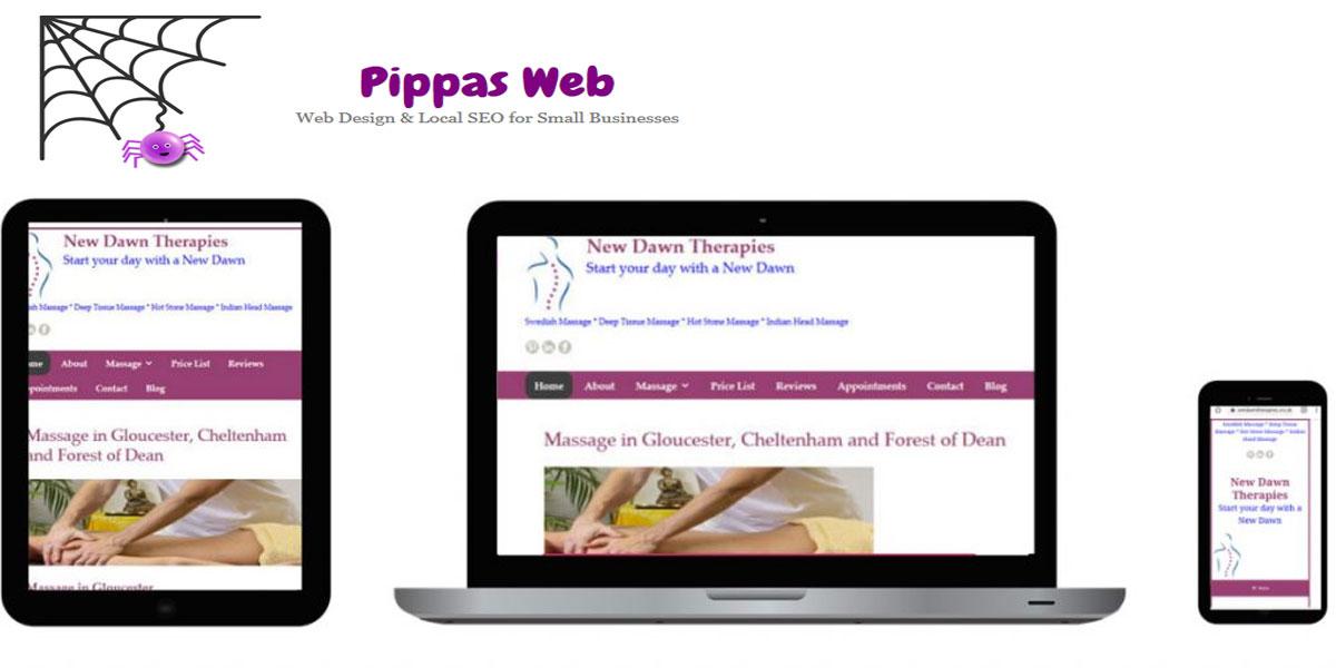 Responsive website design by Pippas Web